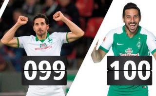 Werder Bremen elogia a Claudio Pizarro en sus redes sociales
