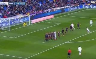 Cristiano Ronaldo anotó golazo de tiro libre en el Bernabéu