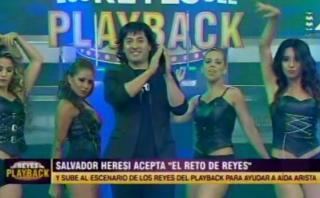 """Salvador Heresi bailó en """"Los reyes del playback"""""""