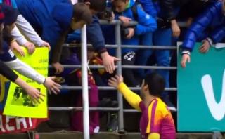 Luis Suárez y el conmovedor gesto que hizo llorar a un niño