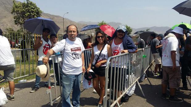 Fanáticos de los Rolling Stones ya aguardan por el inicio del show. (Foto: Ana Monzón/ El Comercio)