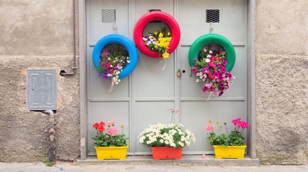 Incorpora las llantas a tu decoraci n con estas for Decoracion con ruedas