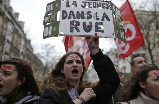 Francia afronta día de protestas por reforma laboral [FOTOS]
