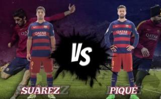 Barcelona: Luis Suárez venció a Piqué en curioso reto [VIDEO]