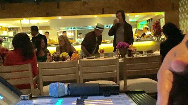 Gaia tocó para los Rolling Stones en el restaurante Astrid & Gastón. (Foto: Twitter)