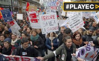 Francia: miles de trabajadores rechazan reforma laboral [VIDEO]