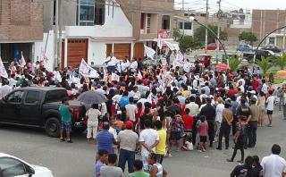 Chimbote: García mostró molestia por poca concurrencia a mitin