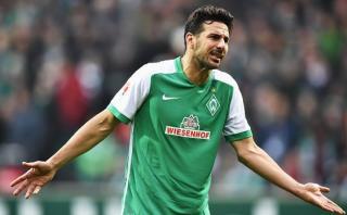 Claudio Pizarro es duda para jugar ante el Mainz por Bundesliga