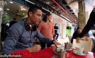 Cristiano Ronaldo: mira qué pasa cuando llega a un café [VIDEO]