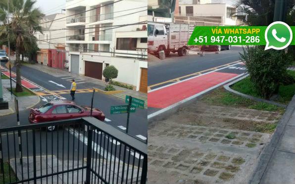 Calle Castrat (Foto: WhatsApp El Comercio)