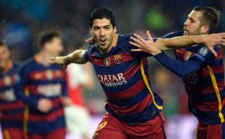 Luis Suárez: golazo de tijera del Barcelona sobre el Arsenal