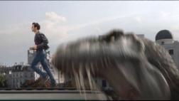 Así escapó Roger Federer al ser perseguido por un Tiranosaurio