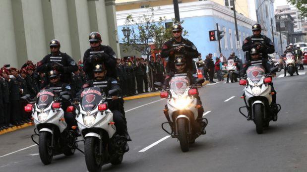PNP recibió 500 motocicletas para Lima y el interior del país