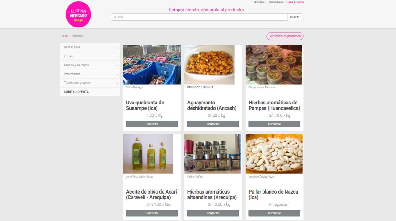 [Foto] Apega crea plataforma que conecta agricultores con compradores