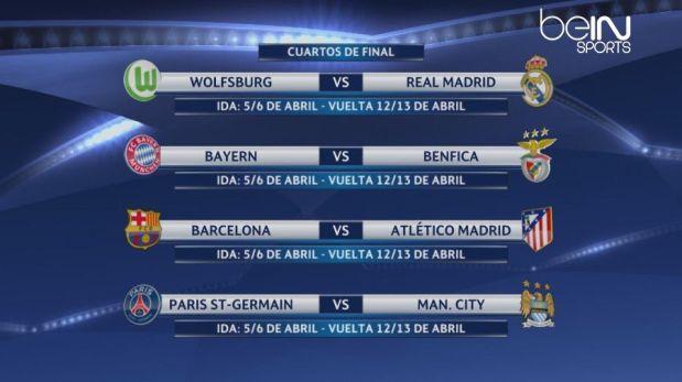 Champions league sortearon las llaves de cuartos de final for Champions cuartos de final