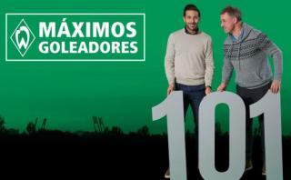 Claudio Pizarro llegó a los 101 goles con Bremen en Bundesliga