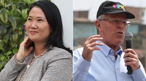 Keiko lidera con 30,8% por encima de PPK con 15,1% en simulacro