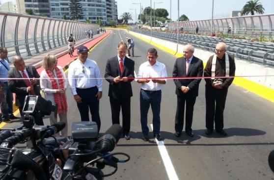 Así fue la inauguración del Puente Mellizo Villena Rey [FOTOS]