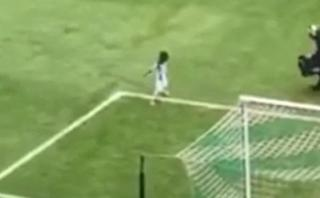 Niño celebra como Cristiano Ronaldo y es ovacionado [VIDEO]