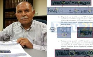 """Perito: Di una """"apreciación preliminar"""" sobre letra de Mendoza"""