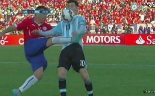 Medel y el patadón con el que detuvo a Messi en la Copa América