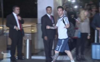 Argentina llegó a Chile y así fue recibida por hinchas [VIDEO]