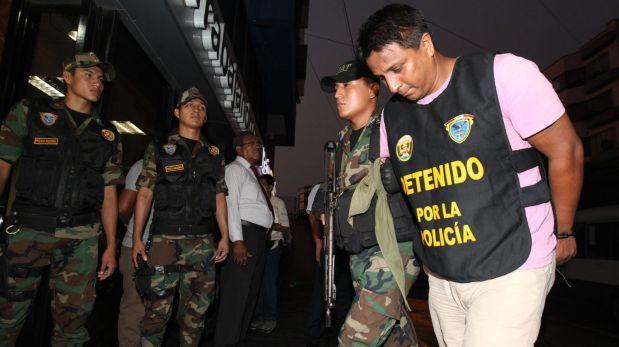 Policía presenta a narcotraficantes detenidos en Miraflores