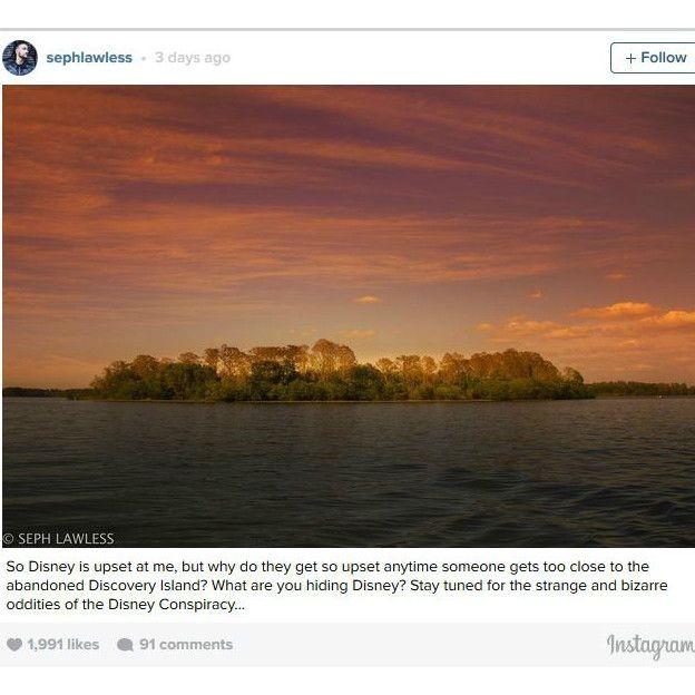 Seph Lawless escribió en su página de Instagram: