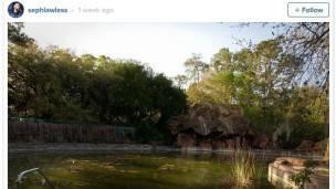 El fotógrafo ha publicado algunas de las fotos que ha captado de los parques abandonados en Instagram.