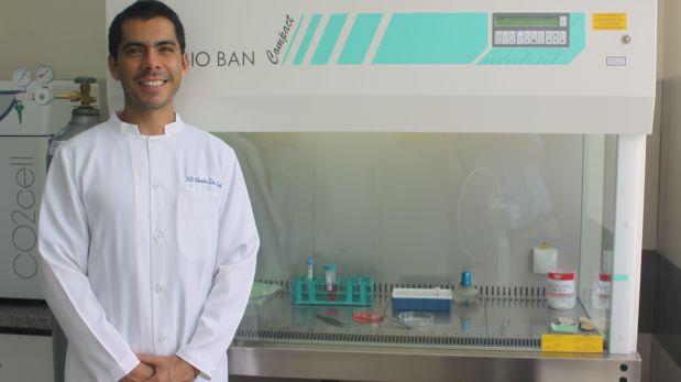 Claudio Peña, investigador peruano que participó del estudio sobre células madre en Dinamarca. (Foto: USMP)