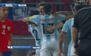 Chile vs. Argentina: golazo de Mercado para el 2-1 albiceleste