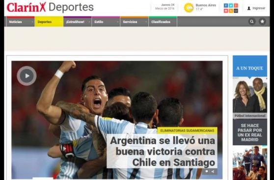 Chile vs. Argentina: los medios festejaron triunfo en Santiago