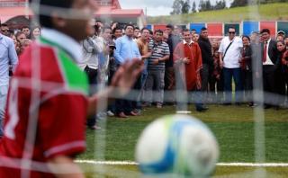 """Humala: """"Déjenme terminar el partido, aún podemos hacer goles"""""""