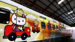 Así luce el nuevo tren de Hello Kitty en Taiwán [FOTOS] - Noticias de tapicería