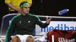Roger Federer se retiró de Miami por problema estomacal