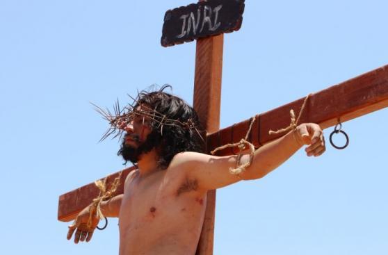 Chiclayo: escenificaron Vía Crucis en distrito de Reque [FOTOS]