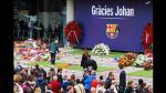 Johan Cruyff: unos 45 mil ya le dieron adiós en el Camp Nou - Noticias de jose maria bartomeu