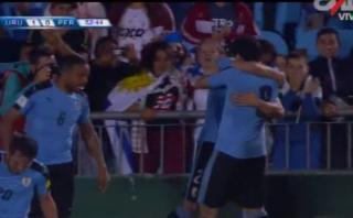 Perú-Uruguay: Cavani fusiló para el 1-0 ante Perú [VIDEO]