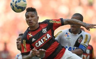 Con Guerrero Flamengo empató 1-1 ante Vasco da Gama