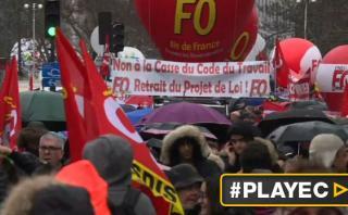 Franceses protestaron en las calles contra la reforma laboral