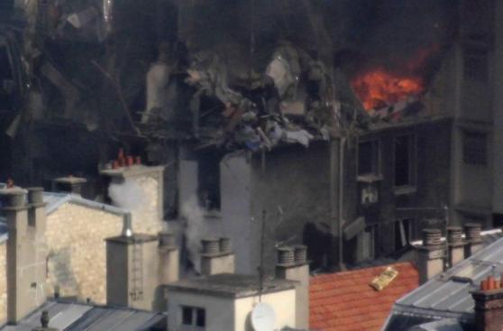 Los graves daños que dejó la explosión en el centro de París