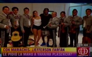 Jefferson Farfán llevó mariachis a Yahaira Plasencia [VIDEO]
