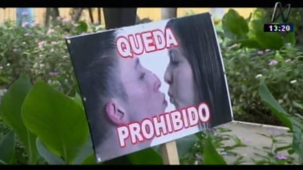 Trujillo: prohíben que parejas se besen en jardín botánico