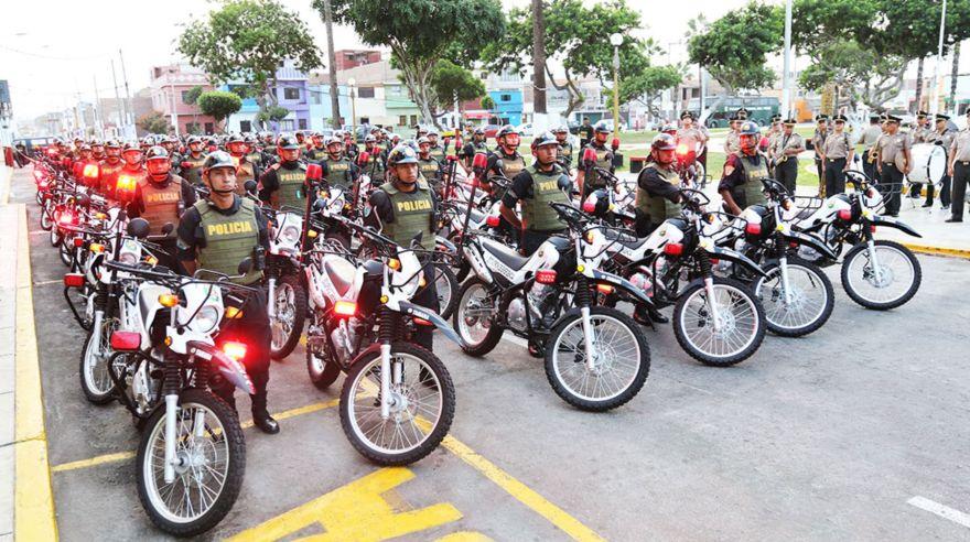 La policía recibió 200 motos adquiridas por el Gobierno Regional del Callao. (Difusión)