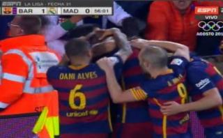 Barcelona-Real Madrid: Piqué anotó el 1-0 de cabeza [VIDEO]