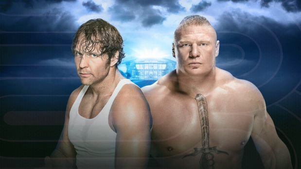 Dean Ambrose y Brock Lesnar se enfrentaron en WrestleMania 32 en un No Holds Barred Street Fight match. (Foto: WWE)