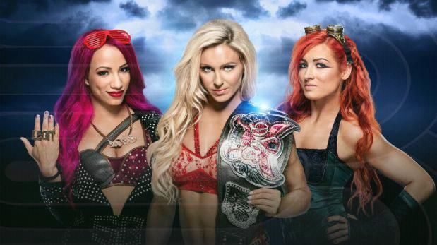 Charlotte, Sasha Banks y Becky Lynch debutarán en WrestleMania con una lucha de amenaza triple. (Foto: WWE)