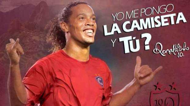 Brasileño Ronaldinho jugará partidos de exhibición por club Cienciano de Perú