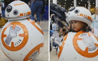 ¿Es este el más lindo disfraz de Star Wars que se ha hecho?