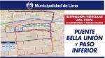 Desde hoy cierran ambos sentidos del Puente Bella Unión - Noticias de tráfico vehicular